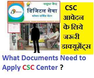 Document for csc registration
