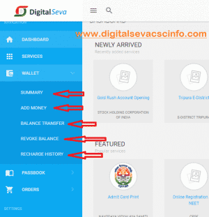 DIGITAL SEVA CSC LOGIN PORTAL WALLET