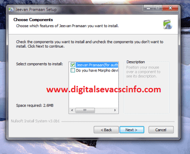 LIFE CERTIFICATE FOR PENSSIONER OPERATOR CLIENT INSTALATION SCREEN 3