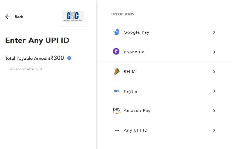 ADD MONEY IN CSC WALLET THROUGH UPI