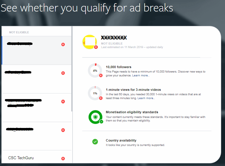 Facebook Ad Break Screen 2