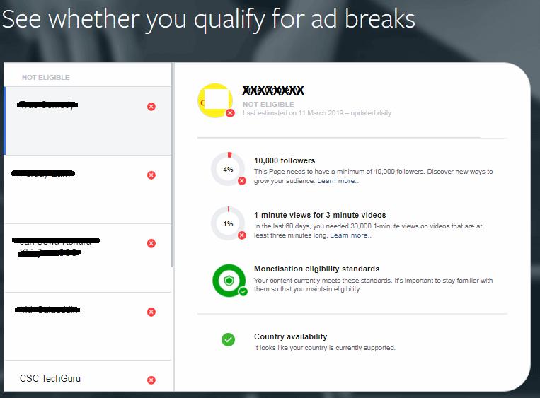 Facebook Ad Break Screen 2