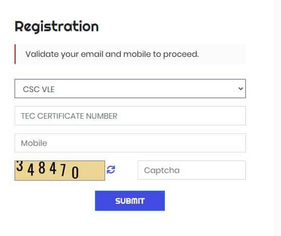 NEW CSC REGISTRATION STEP1