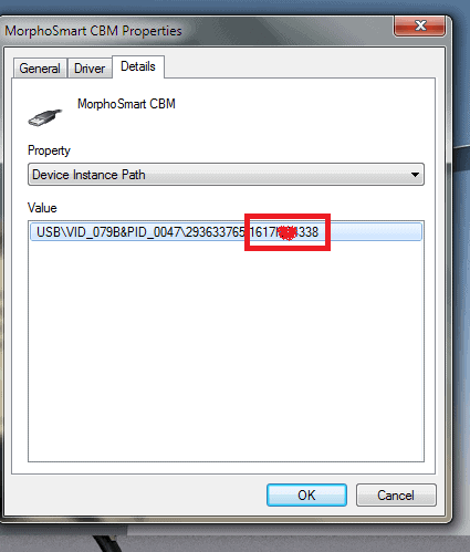 check morpho device serial number-Screen 6