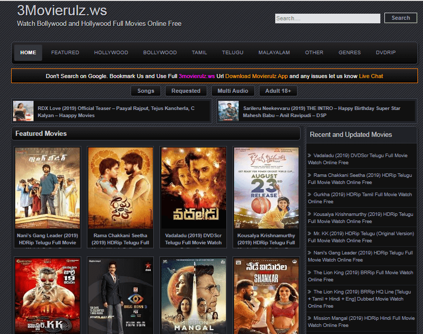 MOvierulz 2019-Download HD Movies Tamil, Bollywood, Hollywood Online