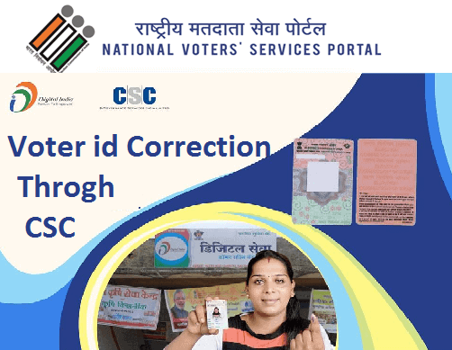VOTER ID CORRECTION VERIFICATION THROUGH CSC