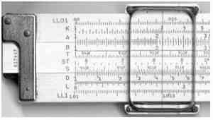 Slide rule calculator