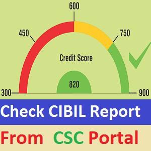 cibil report, check cibil report on csc, csc cibil report , download cibil report card free